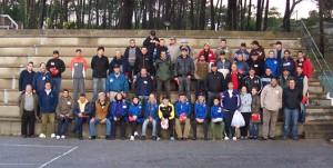 Participantes en el concurso de pesca San Martiño 2011