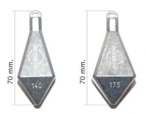 Pesos piramidales para fondosin plomo