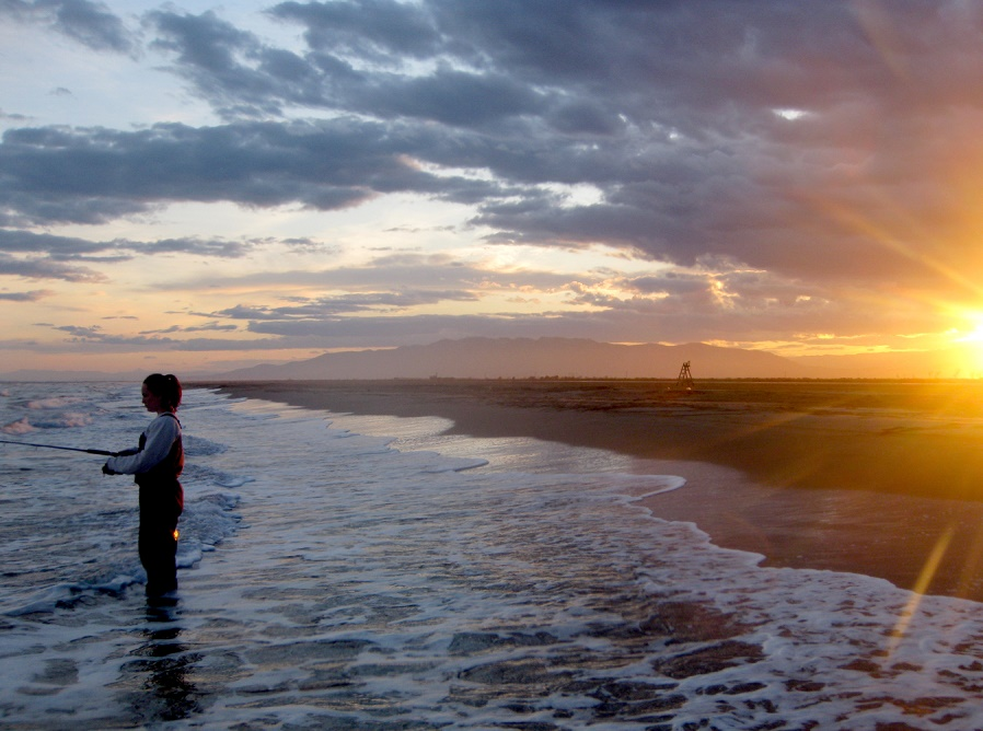 Pesca de lubinas a spinning en playa