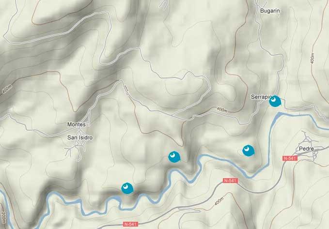 Mapa río Lérez