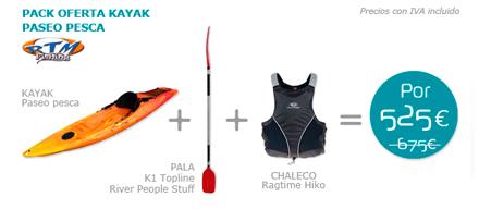 Pack kayak Paseo Pesca Rotomod
