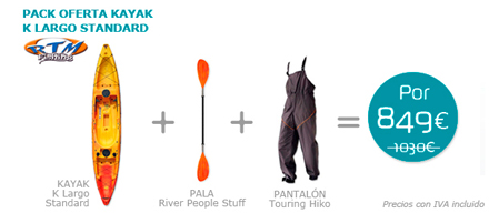 Pack kayak K Largo Standard Rotomod