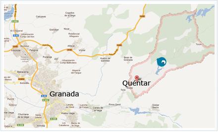 mapa Coto de Aguas Blancas en Quéntar
