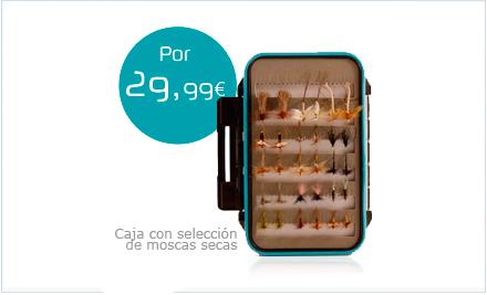 Caja con selección de moscas secas Dragon Tackle