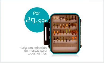 Caja con selección de moscas para todos los ríos Dragon Tackle