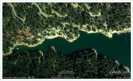google earth para pescadores