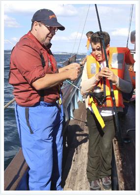 de pesca con los más pequeños