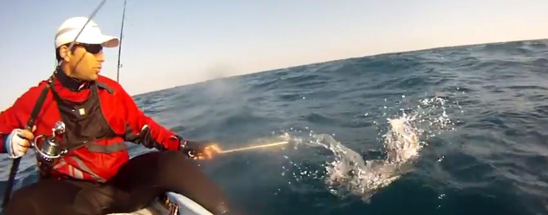 Vídeo de pesca del dentón a jigging desde kayak de pesca