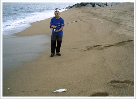 Pesca a surfcasting en arenales