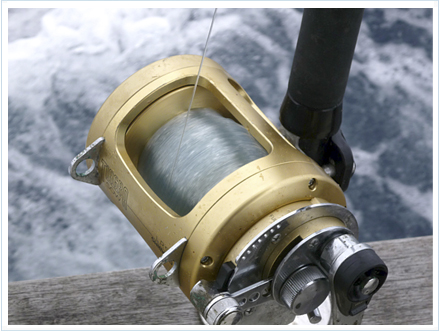 Carrete para la pesca del bonito