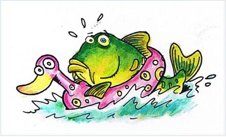 Pesca de carpas con flotador. Autor: Hari.