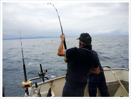 Pescando atunes en el cantábrico