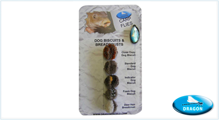 Pack de moscas para Carpa Biscutis & Breadcrusts Dragon Tackle