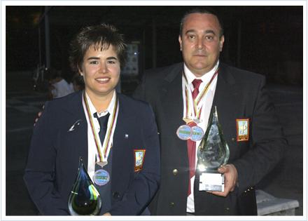 José Carlos Saugar con Cristina Gutiérrez