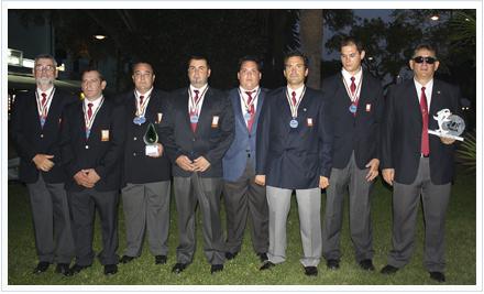 Selección española masculina de Mar-Costa tras su segundo puesto en Italia