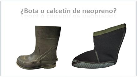 ¿Bota o calcetín de neopreno?
