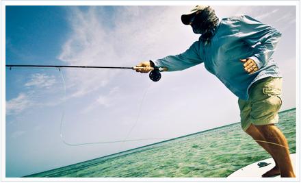 Pesca a mosca en el mar. Foto de Louis Cahill http://www.louiscahill.com/FlyFishing.html