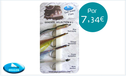 Pack de moscas de agua salada Sandel Selection Dragon Tackle