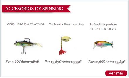 Selección de accesorios de spinning para regalar