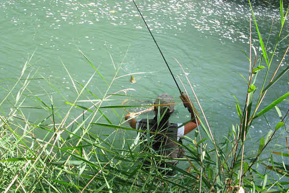 Estefanía Gómez pesca a mosca