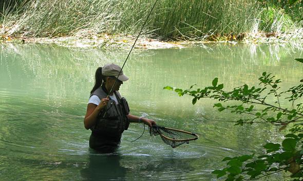 Pesca a mosca con tándem