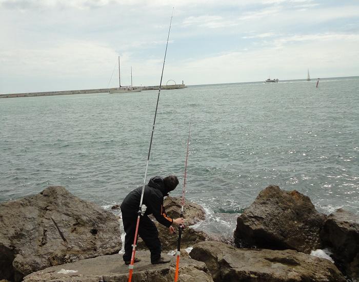 pesca a fondo de la lubina