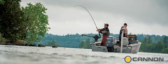 pesca de curricán con profundizadores Cannon