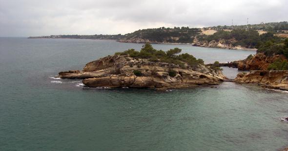 Costa de L´Ametlla de Mar, una zona perfecta para practicar surfcasting en la costa catalana.