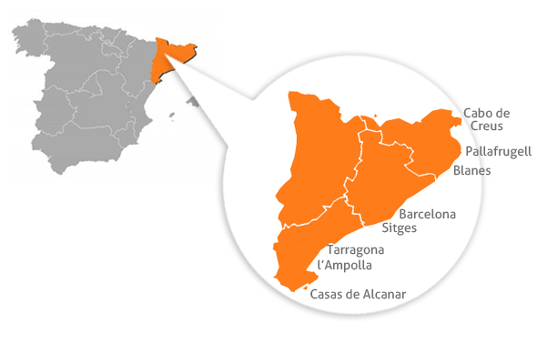 Zonas donde practicar surfcasting en Cataluña