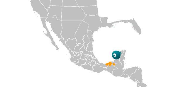 Mapa de Tabasco, México.