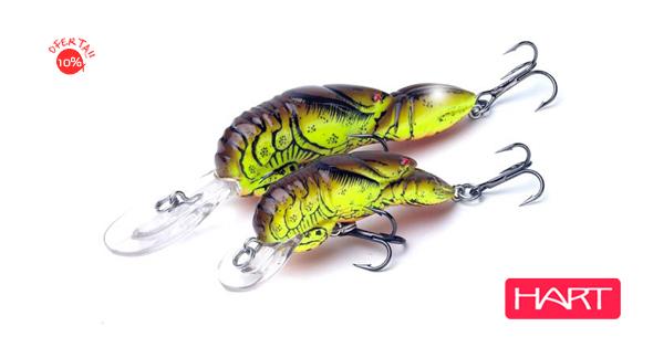 Señuelo crankbait C-lip craw Hart, ideal para la pesca del black-bass.