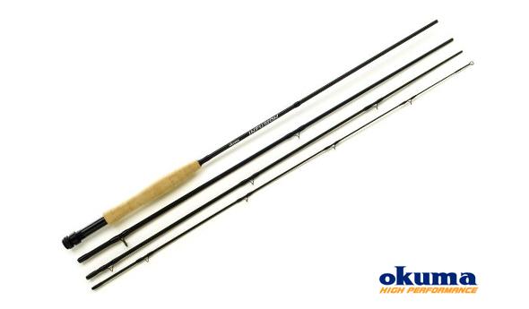 Caña mosca Infussion Okuma, perfecta para pescar reo, salmón, trucha,...