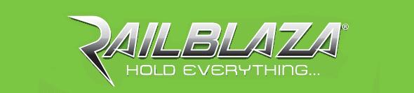 Logo de Railblaza, marca de accesorios para kayaks de pesca