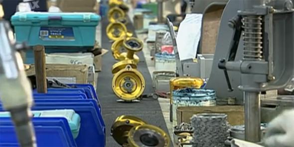 Proceso de fabricación de los carretes de pesca.