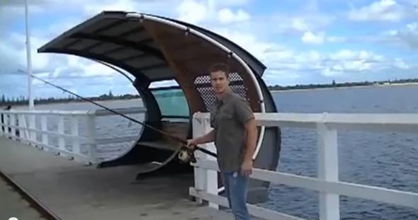 """Fotograma del vídeo de pesca """"El tropiezo del pescador"""""""
