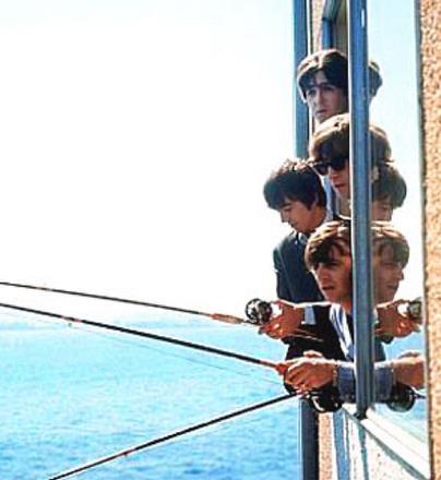 Famosos de pesca: Beatles