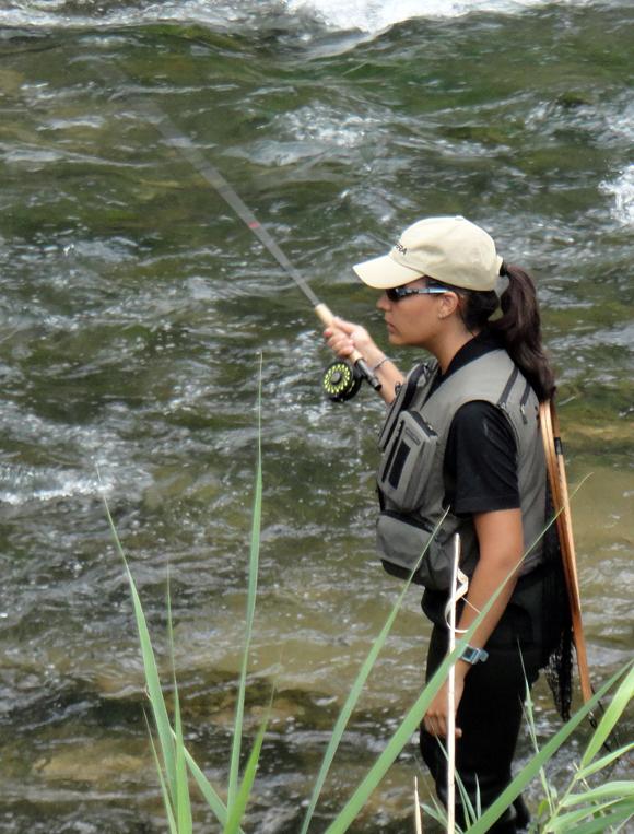 Estefanía Gómez, una pescadora de alta competición