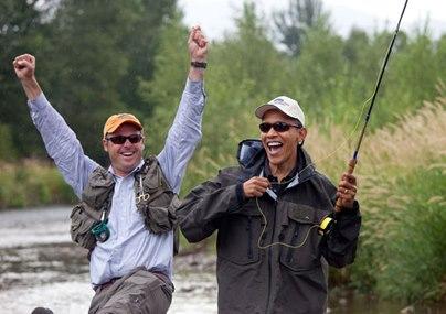 Famosos de pesca: Obama