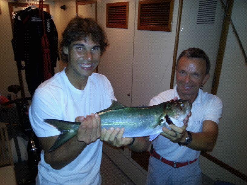 Famosos de pesca: Rafa Nadal