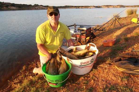 Pesca a la inglesa de carpas