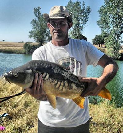 Alberto López, ganador del concurso de fotos de pesca