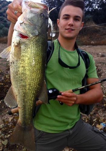 Manuel Jesus López, ganador del concurso de fotos de pesca