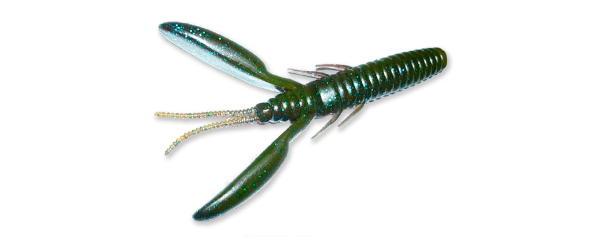 Vinilo con forma de cangrejo, un cebo perfecto para pescar black bass en otoño