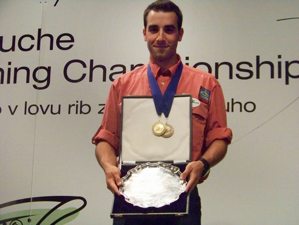 David Arcay, campeón del mundo de pesca a mosca en el 2012.