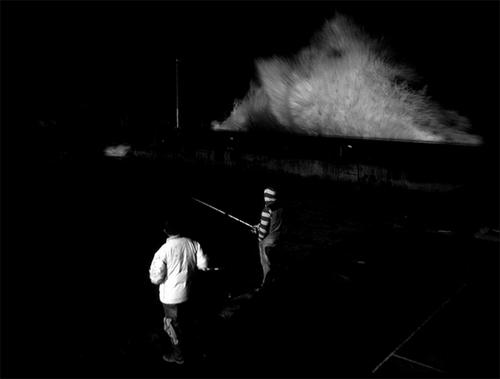 Pesca invernal nocturna