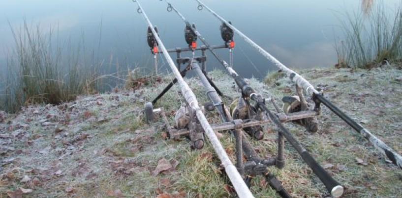 Pescar carpas en el invierno ya avanzado