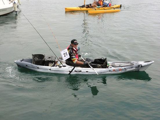 afición a la pesca deportiva en kayak