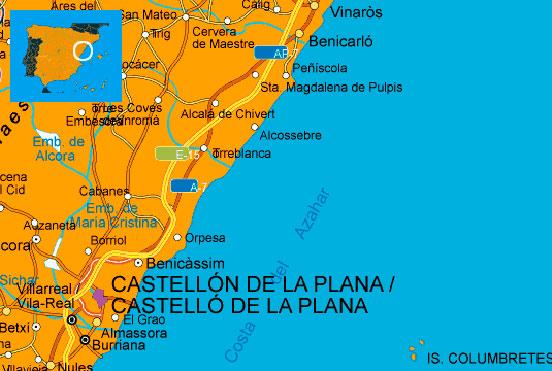 Información para vacaciones, datos, fotos y vídeos sobre Costa del Azahar