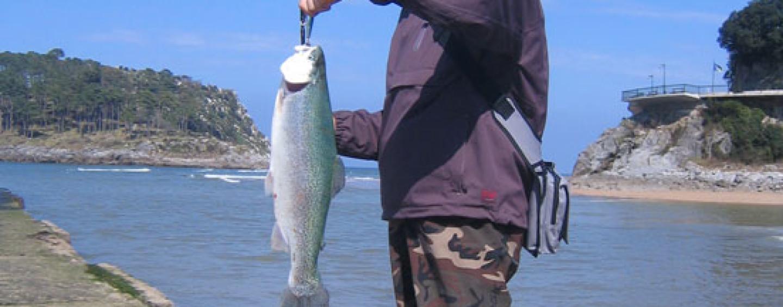 El trasfondo de las fotos de pesca