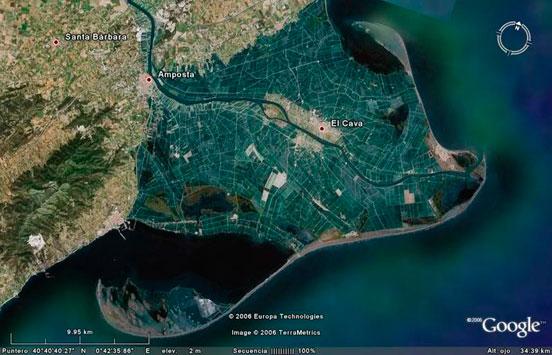 google-earth para planificar una jornada de pesca
